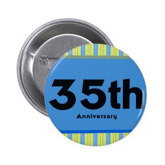 35to Regalos del aniversario de boda Pin Redondo 5 Cm
