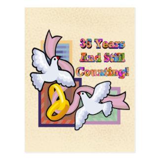 35to Regalos del aniversario de boda Tarjetas Postales