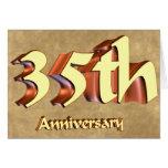 35to Regalos del aniversario de boda Tarjetón