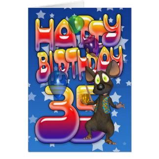 35to Tarjeta de cumpleaños, feliz cumpleaños