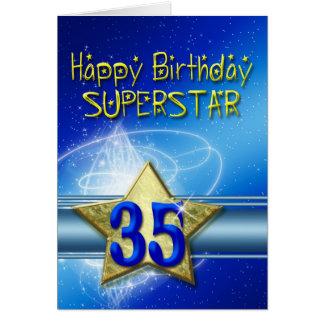 35to Tarjeta de cumpleaños para la superestrella
