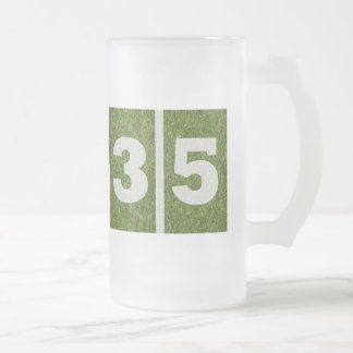 35to Taza del vidrio del fútbol de la yarda del
