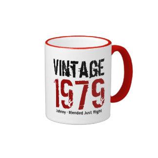 35to Vintage del cumpleaños 1979 o cualesquiera Taza A Dos Colores