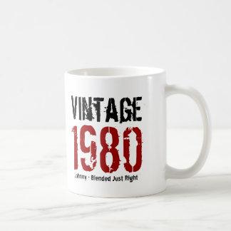 35to Vintage del cumpleaños an o 80 o cualesquiera Taza Básica Blanca