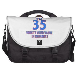 35tos diseños del cumpleaños bolsas para portátil