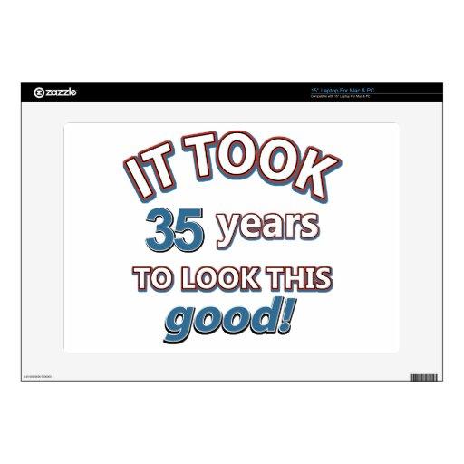 35tos diseños del cumpleaños del año skins para portátil