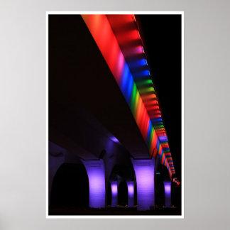 35W Bridge Minneapolis - Gay Pride Poster