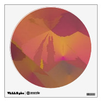 """360 Custom Wall Decal """"No Paradox"""" Sunset Abstract"""