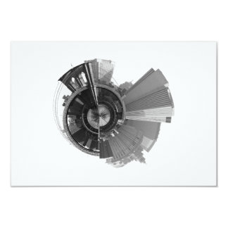 360 Degree Panoramic View of Brooklyn NYC 3.5x5 Paper Invitation Card