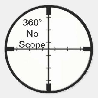 360 ningunos retículos FPS del chiste del Pegatina Redonda