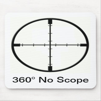 360 No Scope Video Game Joke FPS mouse pad
