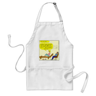 360 that company owns me Cartoon Adult Apron