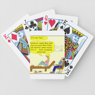 360 that company owns me Cartoon Bicycle Playing Cards