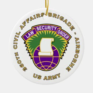 360th Civil Affairs Bde - Airborne Ceramic Ornament