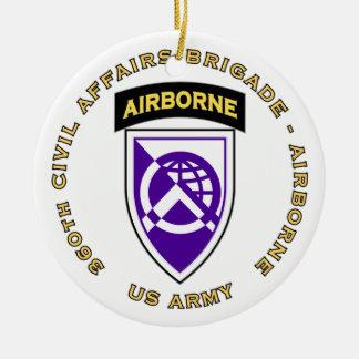 360th Civil Affairs Brigade Ceramic Ornament