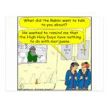 361 high holy days cartoon post card
