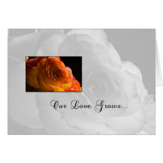 3623 Orange Rose Our Anniversary Card