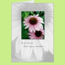 3644 Pink Flowers Recovering from Surgery Card