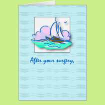 3645 Get Well Surgery Sailboat Card