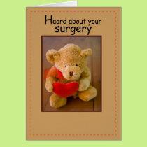 3647 Surgery Bear Heart Card