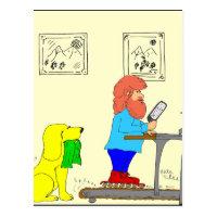 364-skates-for-exercise cartoon postcard