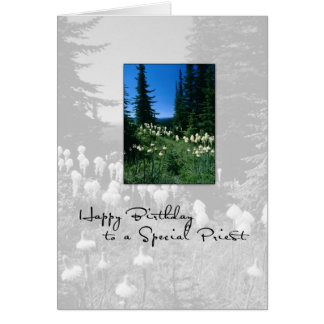 3656 Birthday Priest Landscape Greeting Cards