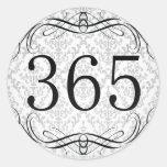 365 Area Code Round Stickers