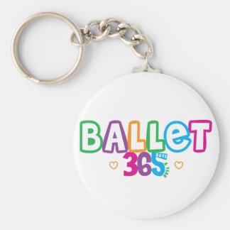 365 Ballet Basic Round Button Keychain