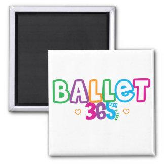365 Ballet 2 Inch Square Magnet