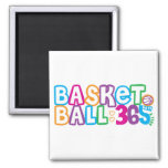 365 Basketball 2 Inch Square Magnet