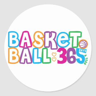 365 Basketball Classic Round Sticker