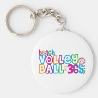 365 Beach Volleyball Basic Round Button Keychain