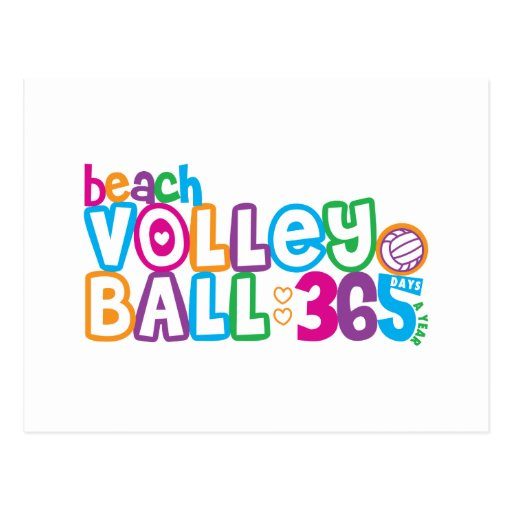 365 Beach Volleyball Postcard
