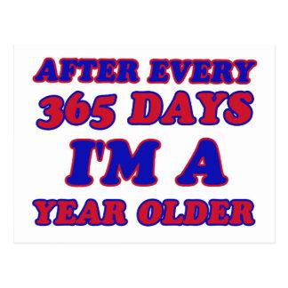 365 day am a year older postcard