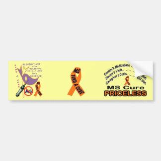365 DAY Disease  CURE MS = priceless Bumper Sticker