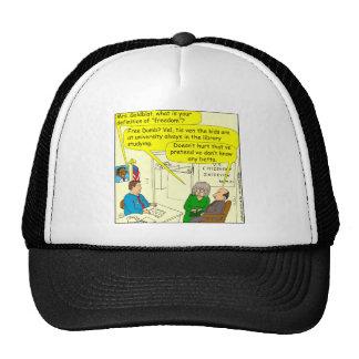 365 define freedom cartoon trucker hat