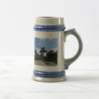 365 design: palm trees beer stein