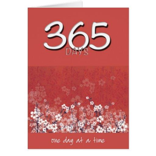365 días calman la tarjeta de cumpleaños limpia de