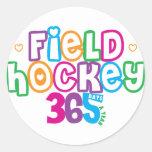 365 Field Hockey Classic Round Sticker