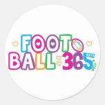 365 Football Round Sticker
