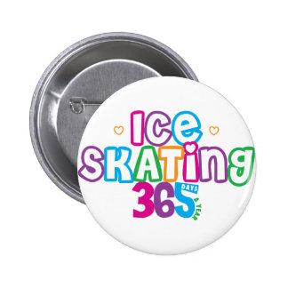 365 Ice Skating 2 Inch Round Button