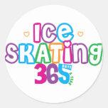 365 Ice Skating Classic Round Sticker
