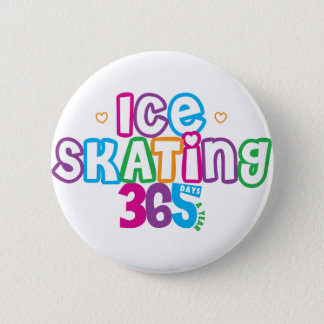 365 Ice Skating Pinback Button