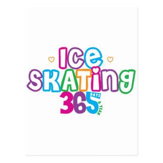 365 Ice Skating Postcard