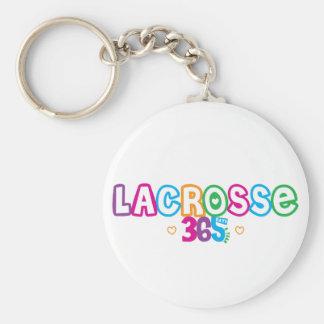 365 Lacrosse Basic Round Button Keychain
