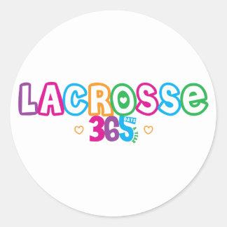 365 Lacrosse Classic Round Sticker