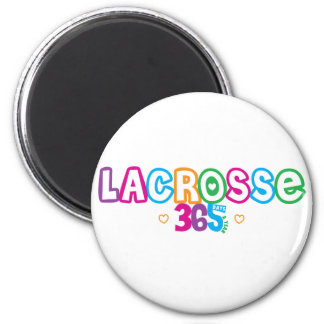 365 Lacrosse 2 Inch Round Magnet