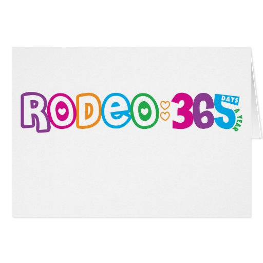 365 Rodeo Greeting Cards