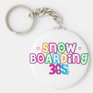365 Snow Boarding Basic Round Button Keychain