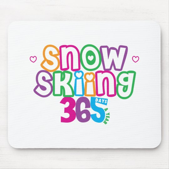 365 Snow Skiing Mouse Pad